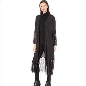 BCBGMaxAzria lace cape-coat